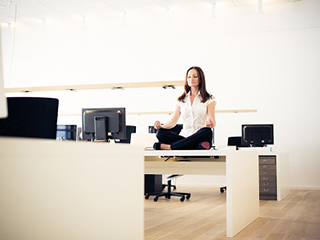 Take <strong>yoga</strong> break in office and feel the difference
