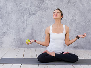 Stop the clock with right diet and <strong>yoga</strong>