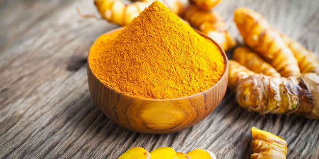 DIY turmeric face scrub for glowing skin