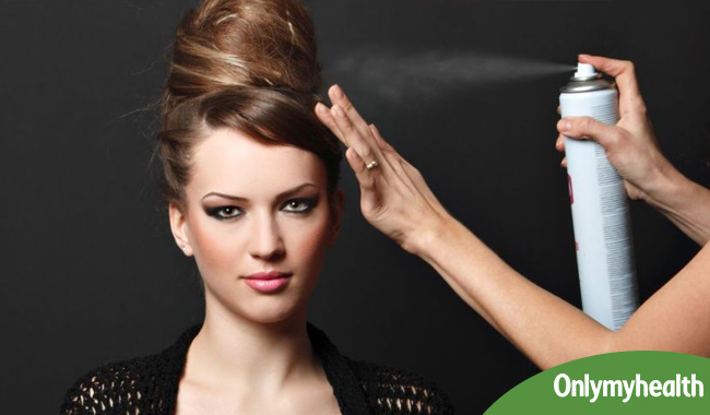 Hair Spray Use For Hairstyle Beautiful Personality In Hindi