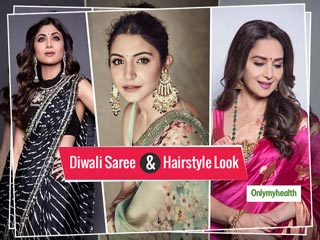 Diwali Saree And <strong>Hairstyle</strong> Look: Follow Trends By Bollywood Celebrities This Festive Season