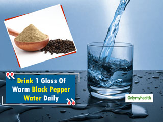 Why Drinking Warm Water With Black Pepper For A <strong>Month</strong> Is A Great Idea!