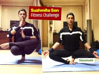 Sushmita Sen's Fitness Challenge: Learn How To <strong>Balance</strong> Weight On One Leg