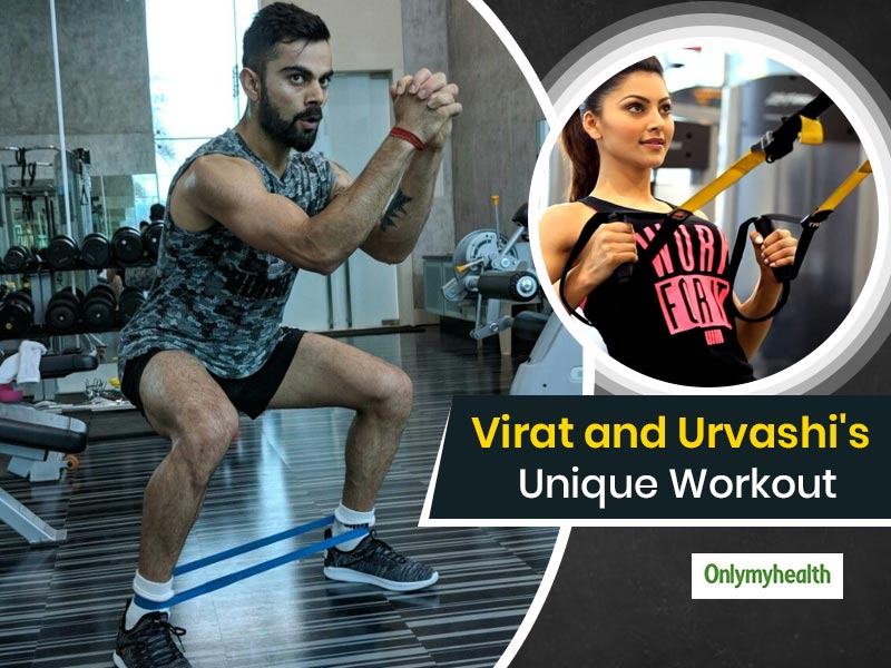 Ace Cricketer Virat Kohli and Actress Urvashi Rautela's Unique Workout Video Gets Viral